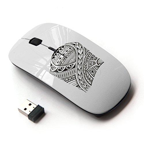 KOOLmouse [ Mouse Senza Fili Ottico 2.4G ] [ Tattoo Art Pattern Fish Viking Style ]