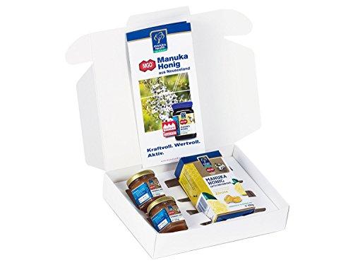 Manuka Lutschtabletten (Manuka Health Geschenk-Set Manuka Honig 2 Probiergläser und Lutschbonbons Zitrone (200 g))