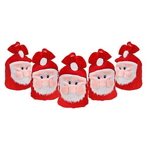 Pack 5 bolsas regalo diseño Papá Noel