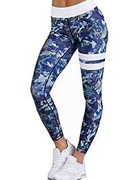 Rawdah Gym Yoga Workout High Waist Running Pants Fitness Leggings éLastiques Impression Pantalon