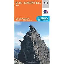 Skye - Cuillin Hills - Soay 1 : 25 000 (OS Explorer Active Map)