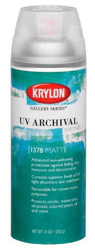 Krylon Gallery Series 11-Ounce UV Archival Varnish Aerosol Spray, Matte by Krylon