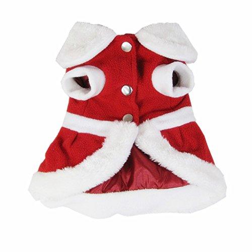 Welpen hund Weihnachten Kleidung Sankt Kostüm Outwear Mantel Kleid Hoodie - Weihnachtsmann , (Kostüme Weihnachten Hund Urlaub)