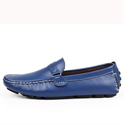 Minitoo ,  Herren Durchgängies Plateau Sandalen mit Keilabsatz Blau