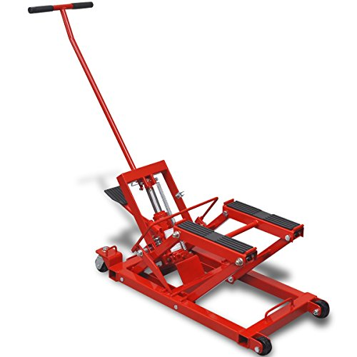 vidaXL Gato hidráulico ATV para motocicletas, 680 kg, rojo