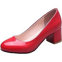 es Rojos De Voguezone009 Zapatos Amazon Tacon ZzqRwzA