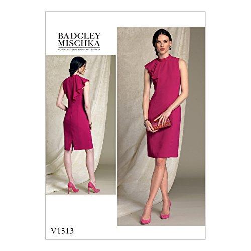 Vogue American Designer-muster (Vogue Mustern Vogue 1513A5, Schnittmuster/Petite Kleid, Größen 6-14, Tissue, Mehrfarbig)