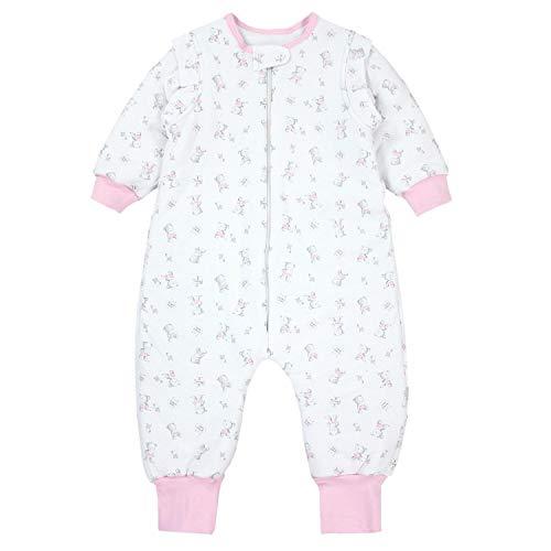 TupTam Baby Unisex Schlafsack mit Beinen und Ärmel Winter, Farbe: Bärchen Rosa, Größe: 104-110