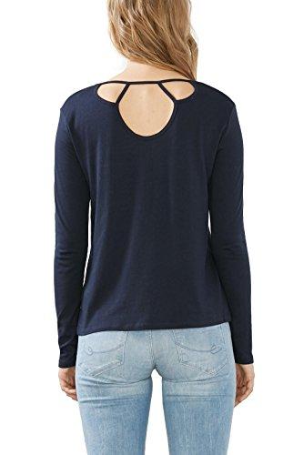 edc by Esprit 116cc1k045, T-Shirt Femme Bleu (navy 400)