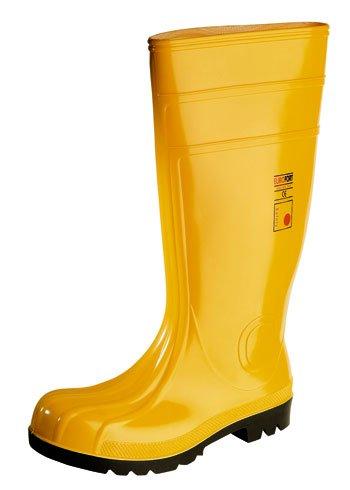 Bottes de travail en PVC jaune S5 avec embout et semelle inte'rieure- 6206401Y