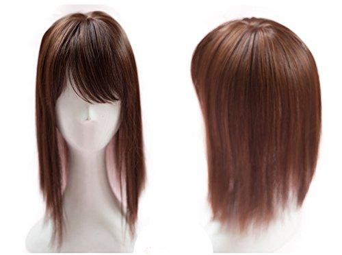 Haartopper mit Clips, 35,6 cm Krone, Perücke, Toupet, mit seitlichem Pony, für Frauen mit dünner werdendem Haar - Toupet Perücke Clip