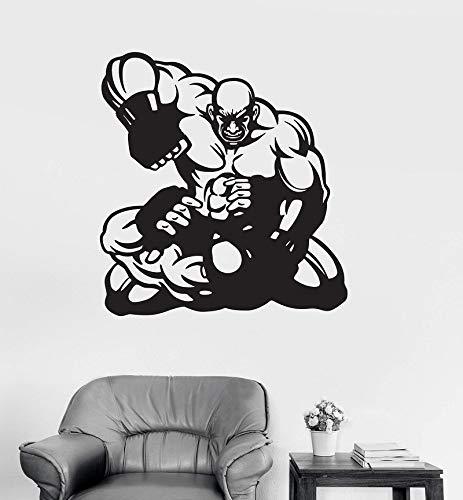 eger MMA martial arts sport aufkleber boxring wohnzimmer boxhalle dekoration wandaufkleber 57 * 61 cm ()