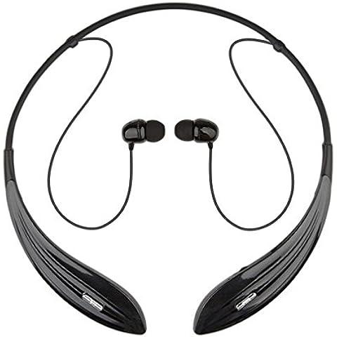 Esonstyle® Estéreo Hilos Universal de Bluetooth Banda para el Cuello de la Vibración de Los Auriculares para el iPhone 6 6S 6plus, Samsung Galaxy Nota S5, HTC, LG, iPad y otros Dispositivos Habilitados para Bluetooth Construido en el MIC