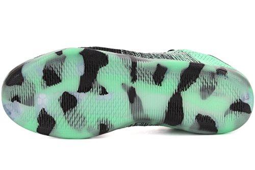 Nike Kobe Xi Elite Low As, espadrilles de basket-ball homme Multicolore - Verde / Negro (Green Glow / Black)
