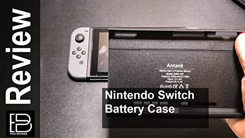 Nintendo Switch Akku-Ladegerät Fall, Antank Portable Switch Backup-Akku 6500mAh Extended Travel Power Bank für Nintendo Switch 2017