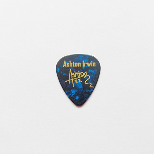 ashton-irwin-5sos-5-seconds-of-summer-autogramm-praegung-plektrum-gitarre-plektrum-blue-pearl
