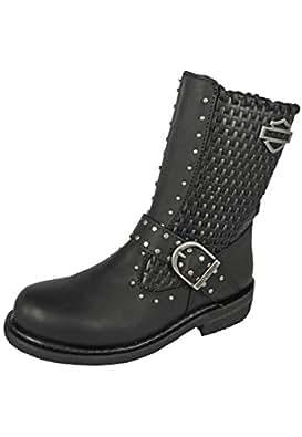harley davidson chaussures femmes bottes abbie black chaussures et sacs. Black Bedroom Furniture Sets. Home Design Ideas
