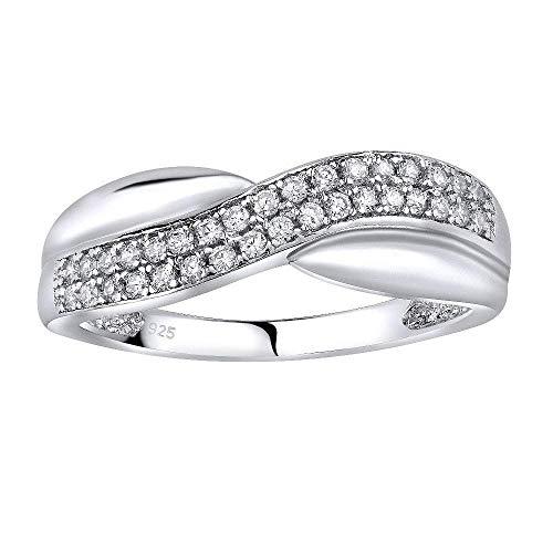 SILVEGO Damen Ring aus 925 Sterling Silber CHARLOTTE mit Zirkonia