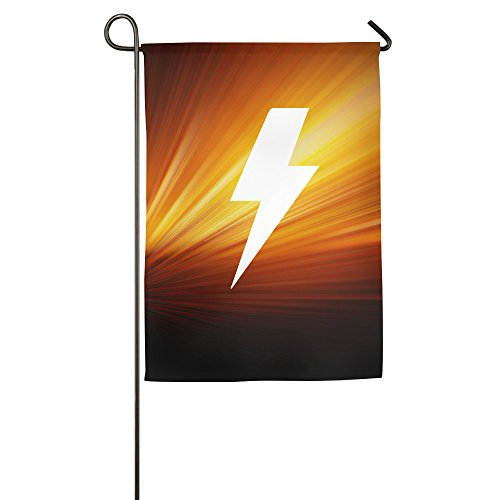 ACDC Ac Dc Lightning Bolt Logo Home Garden Flags White