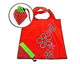 SODIAL(Wz.) Erdbeereform Zusammengeklappt Faltbar Wiederverwendbar Kompakt Umweltfreundlich Wiederverwertungstasche Einkaufstasche
