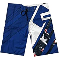 Pantalones Cortos de Playa, Pantalones Cortos de Surf Hawaianos Ocasionales, Pantalones Cortos de Verano para Hombres, Good dress, Azul, 30