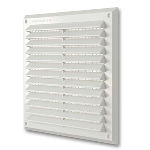 La Ventilazione AR2323B Griglia Plastica Rettangolare da Sovrapporre, Bianco, 227 x 227 mm