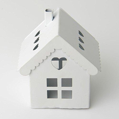 Stock 12 pezzi lanterna in latta portaconfetti a forma di casetta altezza 7 cm bomboniera matrimonio