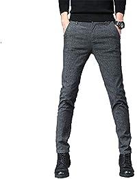 SWISSWELL Homme Pantalon de Costume à Carreau Pants d affaire Rétro Slim  Mode Mince Confort 1b7c82423a8e