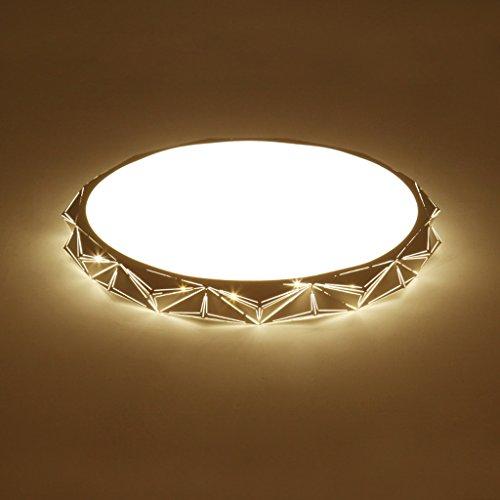 GAOLILI Decken Schlafzimmer führte kreisförmige moderne minimalistische kreative Persönlichkeit Wohnzimmer Studie Arbeitszimmer Lampe moderne minimalistische hochwertige Qualität ( Farbe : Non-polar dimming , größe : 45CM 24W ) (Kreisförmige Lampenschirme)