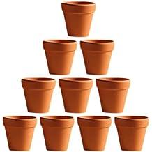 OUNONA 10 Unids 5.5x5 cm Pequeño Mini Terracota Maceta de Cerámica Cerámica Macetas de Cactus Macetas de Plantas Suculentas Macetas Grandes para Plantas de Artesanía Favor de La Boda