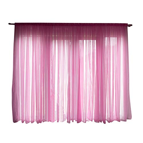 1 Panel Europäischen Stil Vorhänge Für Wohnzimmer Fenster Screening Wear Rod Solide Tür Vorhänge Sheer Tüll Vorhänge für Schlafzimmer -