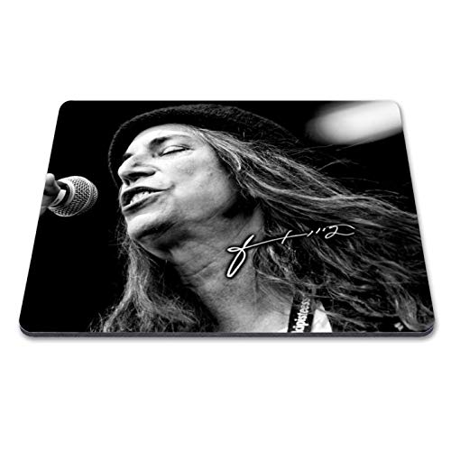 Patti Smith 1 Personalised Gift Print Mouse Mat Autograph Computer Rest Mouse Mat Compatible with Laser and Optical Mice (No Personalised Message)