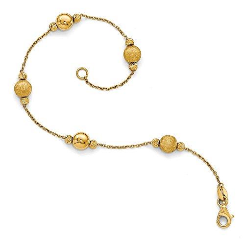 Black Bow Jewellery Company: Multi-Station 6 mm Perlen-Armband 14 kt Gelbgold 7,5 cm