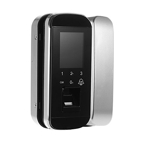 Open-sensor-kit (OWSOO Fingerabdruck Smart Lock Passwort Tür Access Control System & Zeiterfassung Kits Touchscreen Intelligente Elektronische Keyless Türschloss Eintrag Kit für Home Office (Single/Doppel Open))
