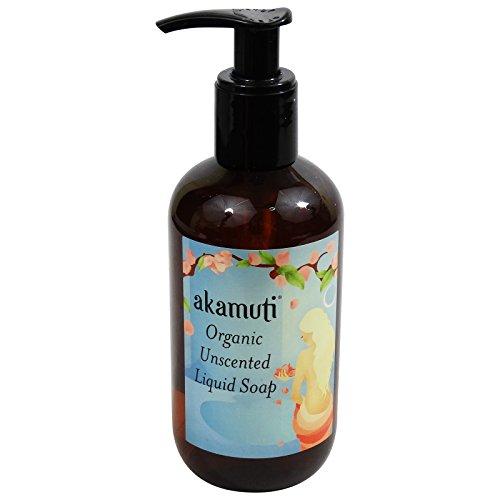 AKAMUTI - Savon Liquide Bio Sans Parfum - Parfait pour le lavage en douceur des mains, du corps et des cheveux - Utilisable en shampoing pour votre chien