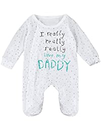 2da8594044e VENMO Cute Infant Bodysuit I Really Love My Mummy Daddy Baby Boys Girls  Long Sleeve Romper Jumpsuit Outfits Clothes for 3-24 Months…