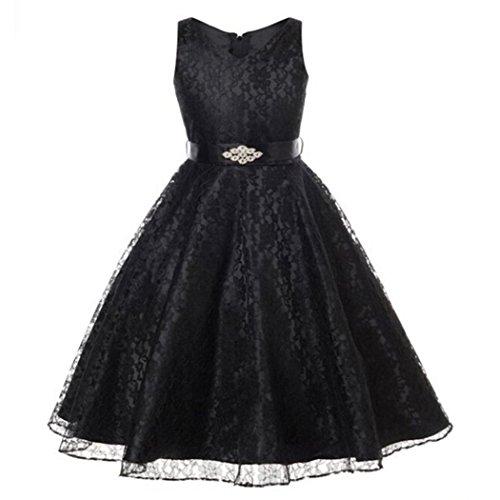 Echte Prinzessin Kleid (Mädchen Kinder Prinzessin Festkleider Hochzeit Partykleider Brautkleid)