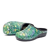 Womens Comfortable Slip On Garden Clogs Shoes, Meadow Garden, UK 5