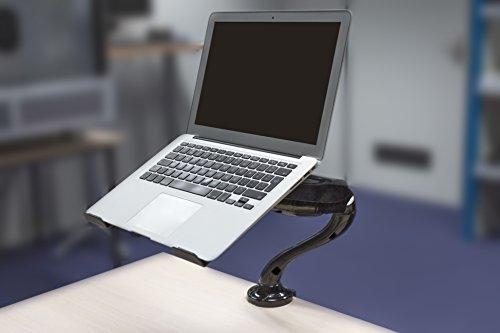 Eurosell Design Notebook Laptop Ständer Arm - Gelenk schwenbar 360° Rotation - Gasfeder System - Laptop Halterung - für Notebooks Tablet iPad Macbook etc. - Tischhalterung Tisch Halter Schreibtisch (Schwenkbarer Ipad-halter)