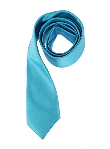 Cravate enfant noeud à faire en satin (4 à 12 ans) Bleu turquoise