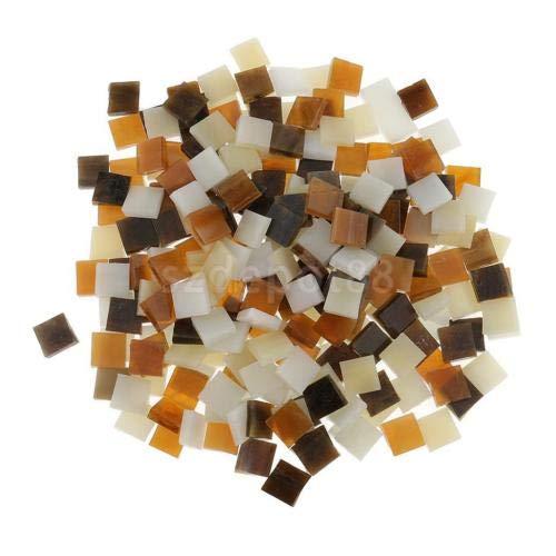FidgetGear Lot de 250 Dalles de mosaïque en Verre pour Bricolage Marron/Blanc