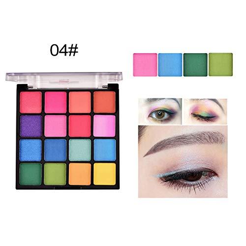 Ofanyia Palette de fards à paupières mat chatoyante Palette de maquillage longue durée imperméable à l'eau et durable 16 couleurs