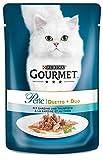 Gourmet Perle Katzenfutter Duetto di Mare mit Sardine und Thunfisch, 24er Pack (24 x 85 g) Beutel