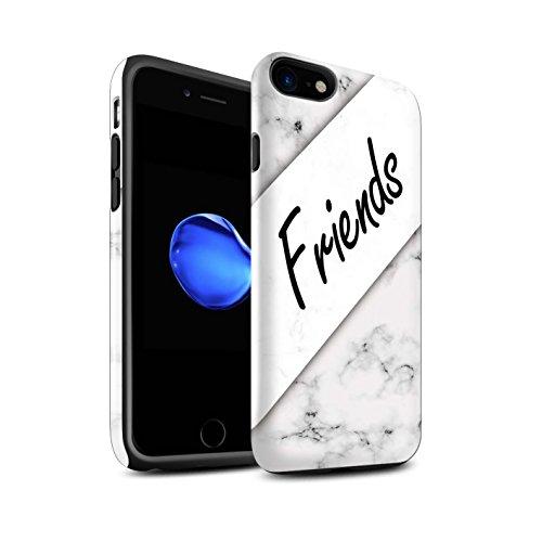 STUFF4 Glanz Harten Stoßfest Hülle / Case für Apple iPhone 8 / Unendlichkeit/Recht Muster / Sie & Mich Paare Kollektion Marmor/Freunde