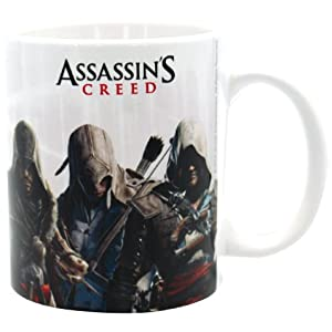 Assassins Creed 320 ml Heroes Becher, Mehrfarbig