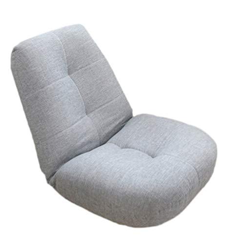 Jie ke divano lazy balcony small sofa lounge chair sedia pigro giapponese seduta simple modern mini tatami divano singolo comodo divano (colore : grigio chiaro)