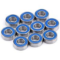 10 Piezas MR115-2RS Rodamientos de Bolas de Doble Blindaje,Asixx,de Acero Con Cojinetes 5*11*4MM
