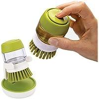ANLIN Good Grips - Cepillo dispensador de jabón para la palma de la cocina, para lavar, cacerola, plato y fregadero, con soporte