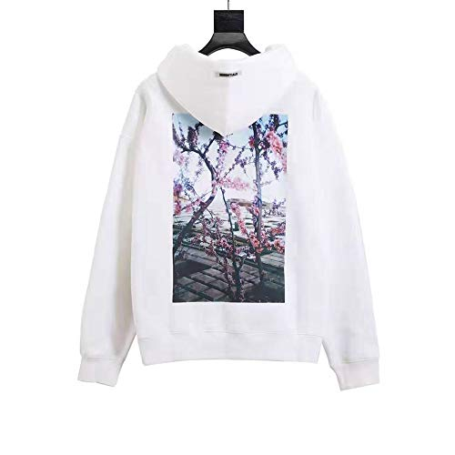 BLJS Frauen Hoodie der Männer Fear of GOD Essentials Fog lose Pullover Mode Sweatshirt, Baseball-Trikot,Weiß,L