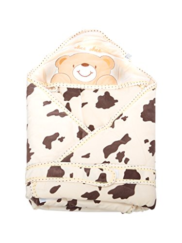 Mee Mee Baby Wrapper Blanket with Hood (Cream)  available at amazon for Rs.899